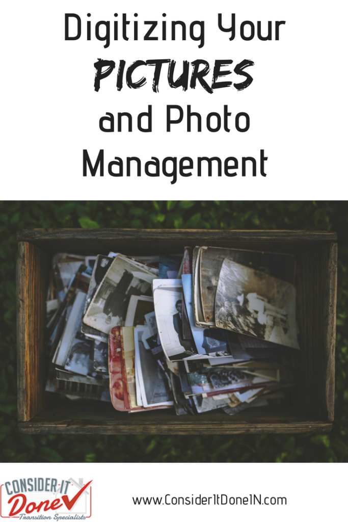 Have a box of old photos taking up space in your home? Perhaps you should consider digitizing them! Read on for an introduction to the process and some tips on managing your digital photos too.