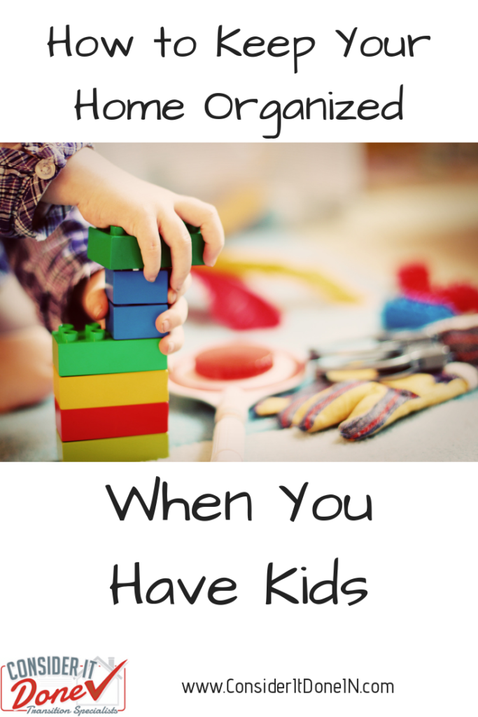If you have kids, you'll already know how much STUFF comes along with them. Here are some easy steps to implement to help keep your home organized with kids.
