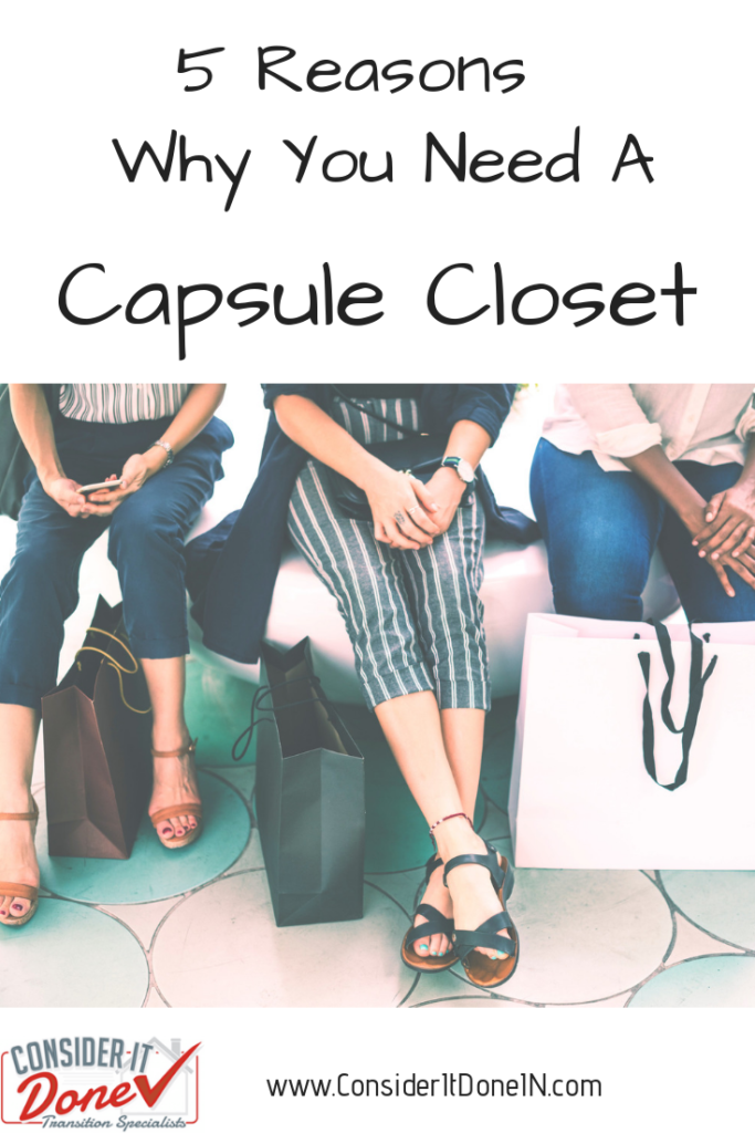 """Do you ever look in your closet full of clothes and think """"I've got so many clothes but nothing to wear!!"""" There's a solution - it's called a Capsule Closet!"""