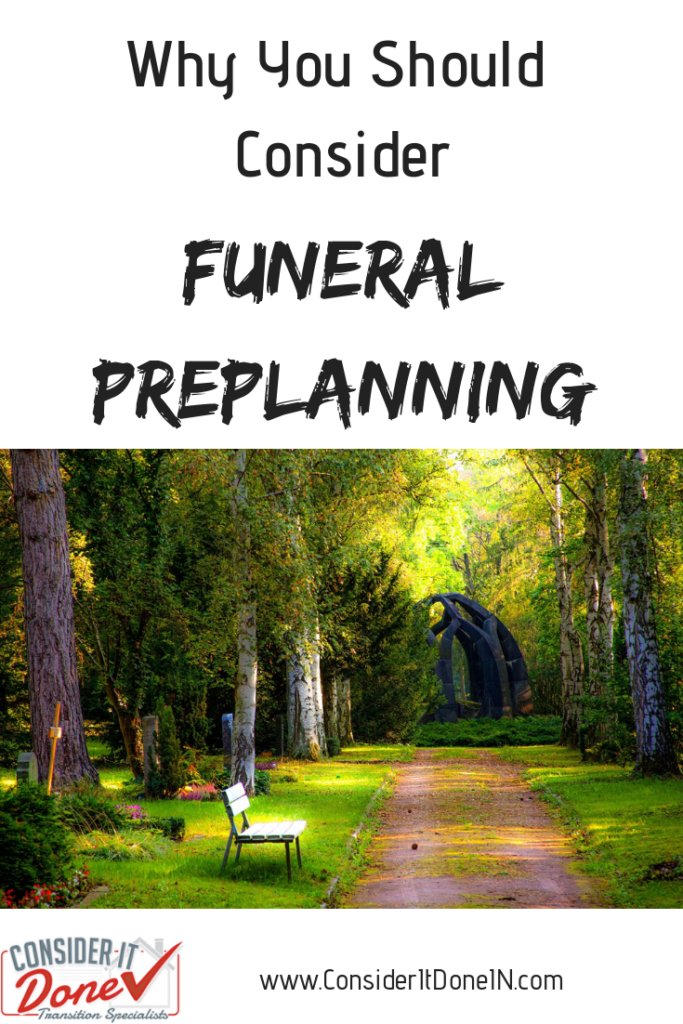 Preparing for end of life is something most of us don't want to think about, but pre-planning your funeral has many benefits. I discuss this topic which is not often talked about and give you some information on the benefits of prearranging your funeral.