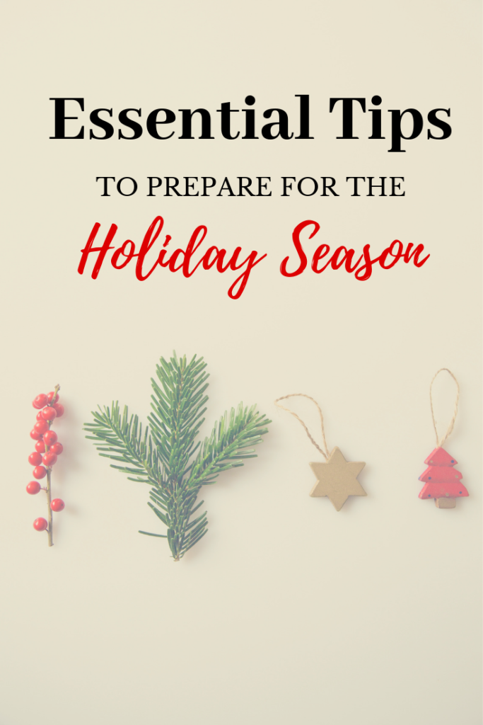 Hands up if the approaching holiday season fills you with dread? Here a few tips that may help ease the stress and make it a season of joy!