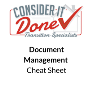 Document Management Cheat Sheet