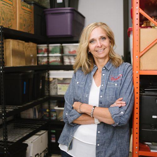 Cheryl your Professional Organizer working in a garage